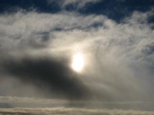 coal sun sky